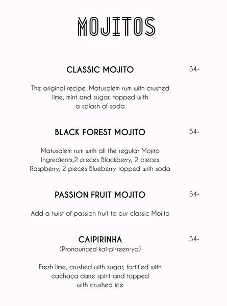 The Clavichord Menu